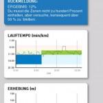 adidas Train and Run App Auswertung