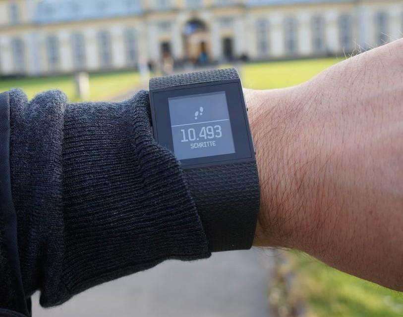 Fitbit Surge Schritte