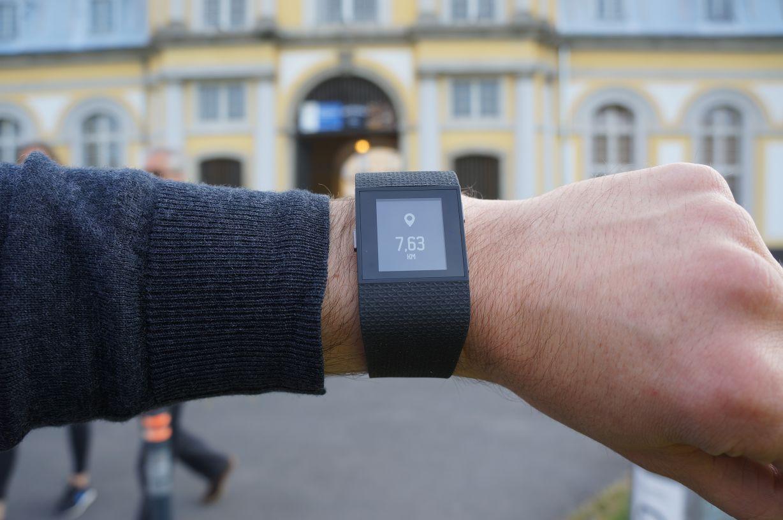 Fitbit Surge zurückgelegte Distanz