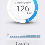 Pulsense View App Herzfrequenz-Zone