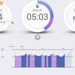 Pulsense View App Schlafaktivitaeten