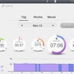 Pulsense View Schlafdaten (Leicht- und Tiefschlafphasen)
