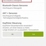 Endomondo - Bluetooth-Smart Einstellungen