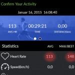 Mio Go App - Fuse Durchschnitts und Max. Puls