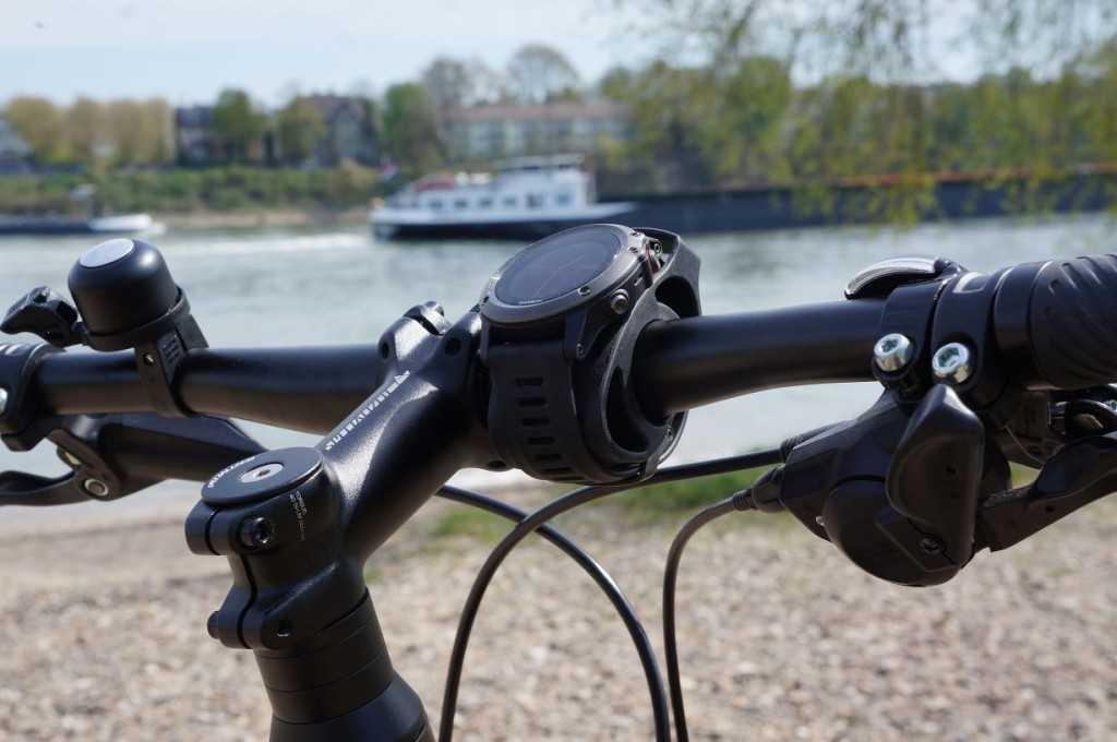 Garmin Fenix 3 an Garmin Fahrradhalterung