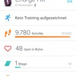 Fitbit App - Dashboard Charge