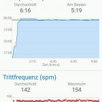 Connect App - Schrittfrequenz und Pace