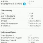 Connect App Schwimmen Details