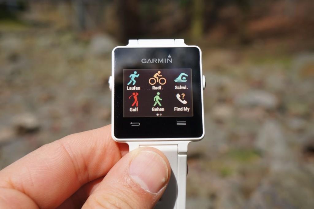 Vivoactive: Vorinstallierte Sport-Apps