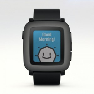 Pebble Time in Schwarz