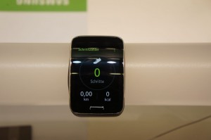 Samsung Gear S - Schrittzähler