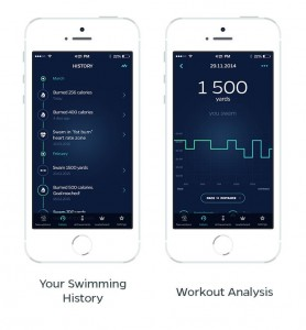 Swimmo App - Historie und Workout Analyse