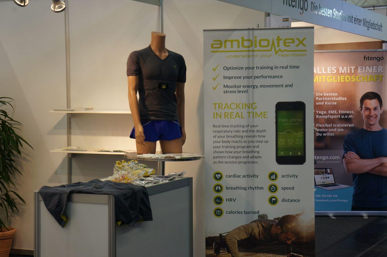 """ambiotex Hightech-Shirt:auf der FIBO 2015 für den Innovation Award in der Kategorie """"Gesundheitsförderung"""" nominiert"""