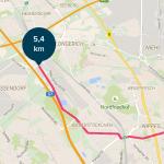 App Radfahren Karte