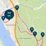 Fitbit Surge Wandern - Karte