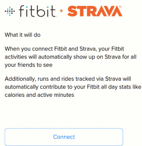 Fitbit Strava Landing Page