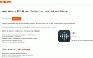 Fitbit für Strava autorisieren