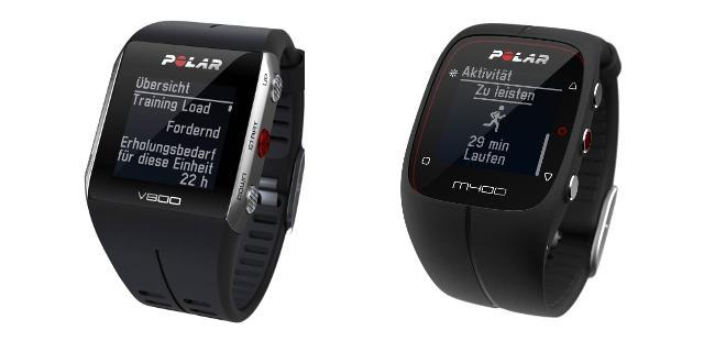 Polar V800 und Polar M400 nun mit Smartwatch-Qualitäten