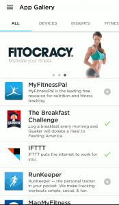 UP App - Kompatibilität mit anderen Plattformen