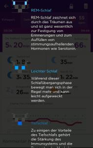 UP App - Schlafphasen