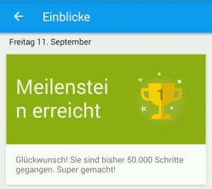 Sony Lifelog App - Meilenstein