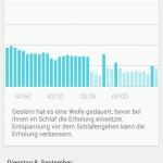 Sony Lifelog App - Schlafanalyse