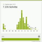 Sony Lifelog App - Schritte am Tag