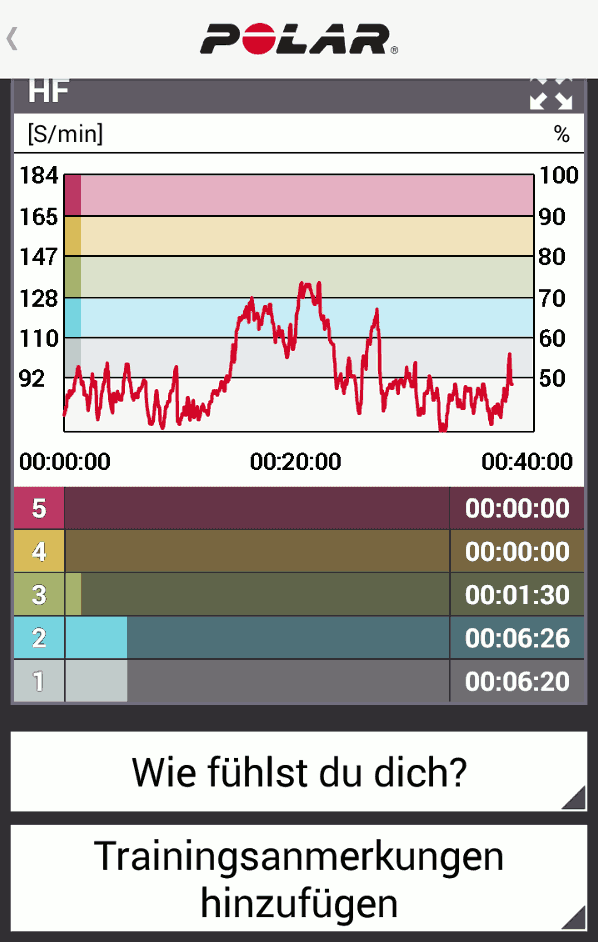 Polar Flow Trainingseinheit (2/2)