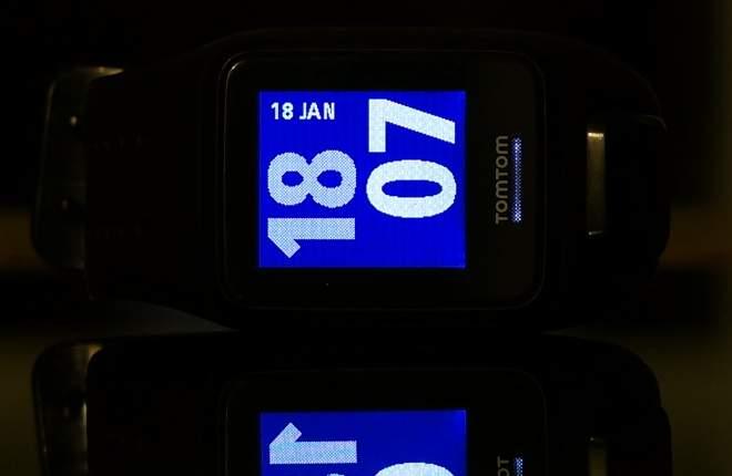 TomTom Spark Cardio Test: Hintergrundbeleuchtung