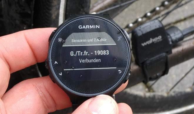 FR235 mit Radsensor koppeln