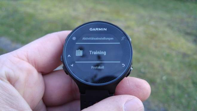 Garmin FR235: Training abrufen