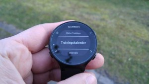 Garmin FR235: Trainingskalender abrufen