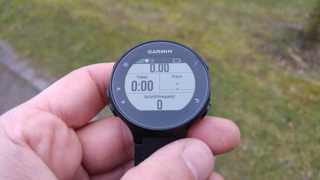 Garmin FR235: Layout mit 4 Datenfeldern