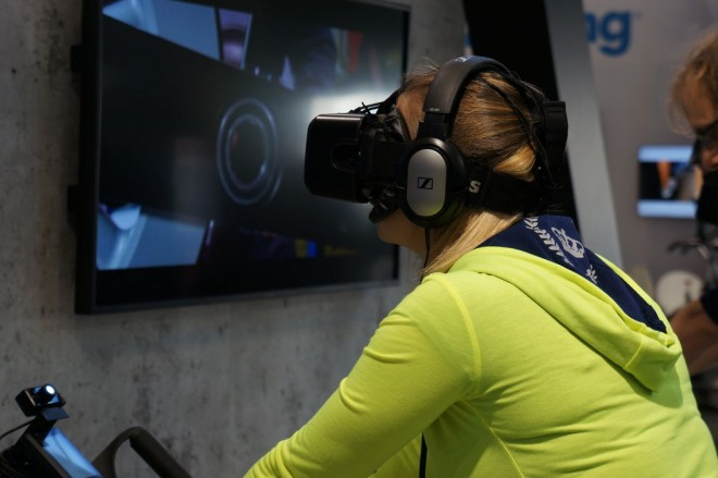 Body Bike 360 - Oculus Rift beim Fitness