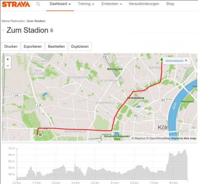 Route mit Strava planen