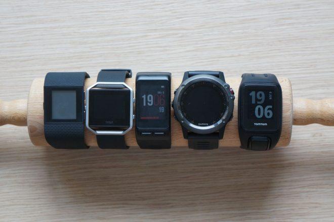 Fitbit Surge vs Fitbit Blaze vs Garmin Vivoactive HR vs Garmin Fenix 3 vs TomTom Spark Cardio