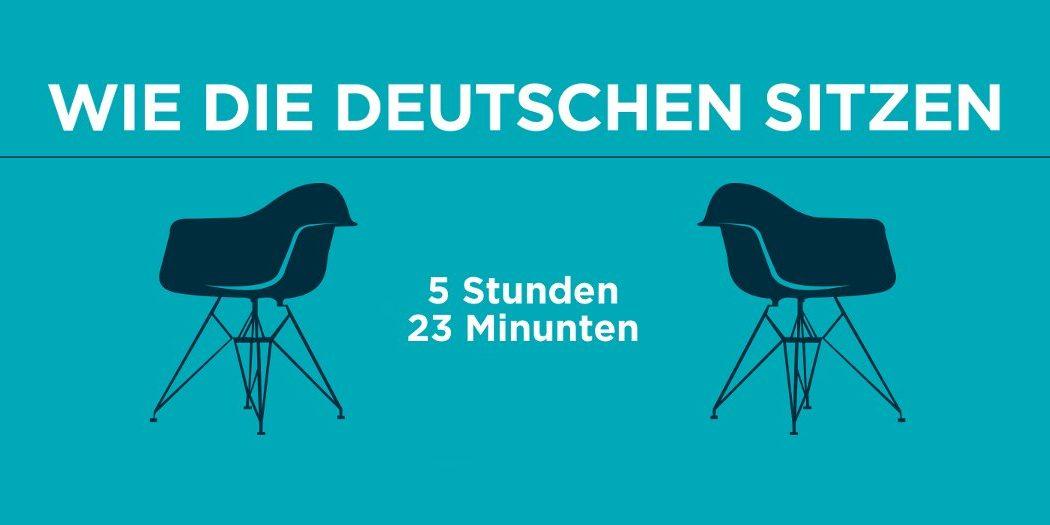 Fitbit: Wie die Deutschen sitzen