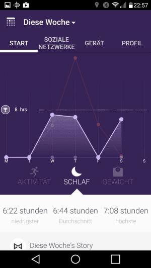 Misfit App Schlaf