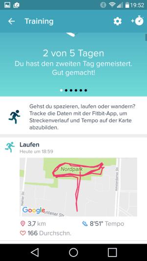 Charge 2 GPS Strecke