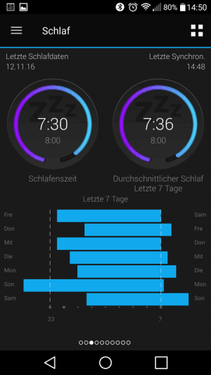 Connect App - Schlaf