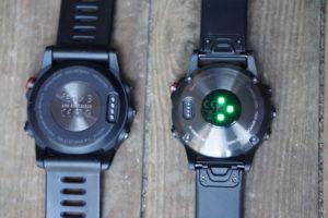 Fenix 3 (links) vs Fenix 5 (rechts)