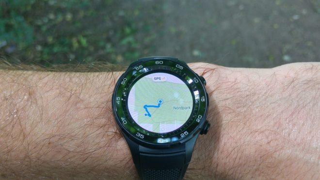 Huawei Watch 2 Streckenaufzeichnung