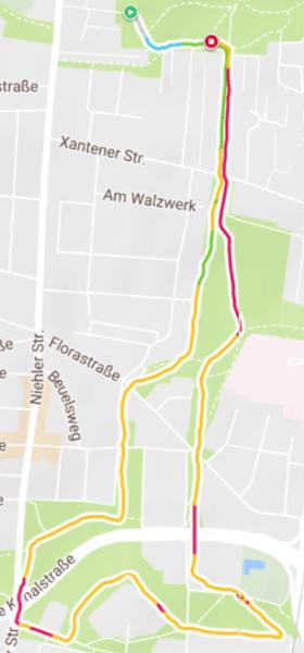 Polar M430 GPS Laufstrecke