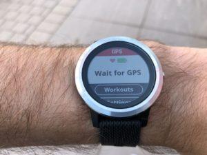 Vivoactive 3 wartet auf ein GPS-Signal