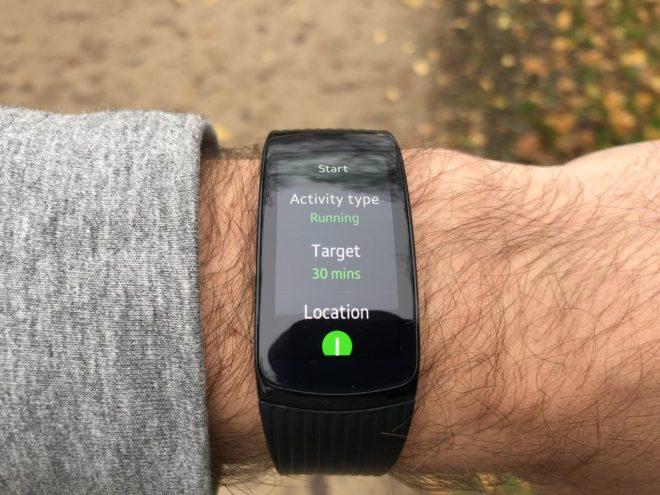 Samsung Gear Fit2 Pro Laufen