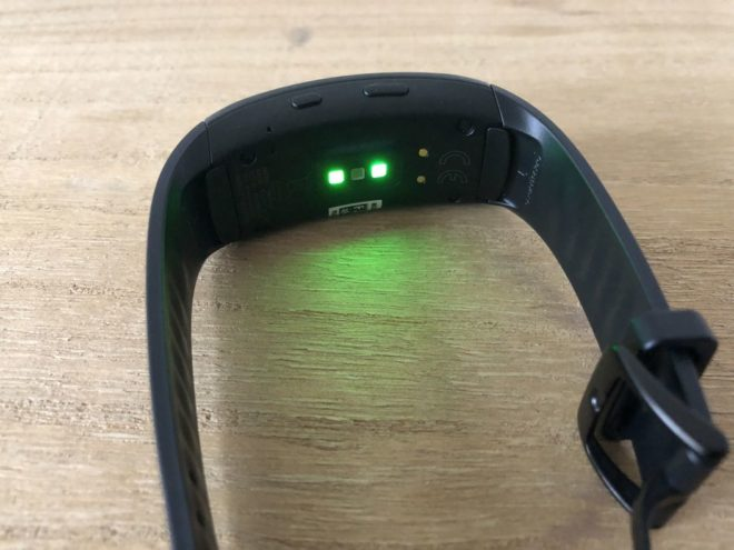 Samsung Gear Fit2 Pro Test: Pulssensor