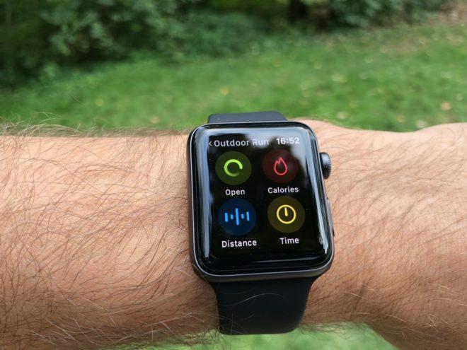 Apple Watch 3: Ziele bei Trainings setzen