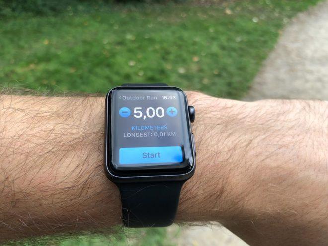 Apple Watch 3: 5km Ziel
