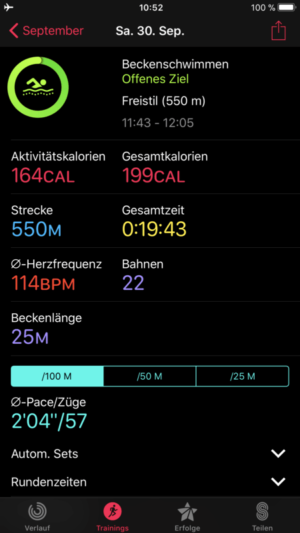 Apple Watch 3 Test: Schwimmen