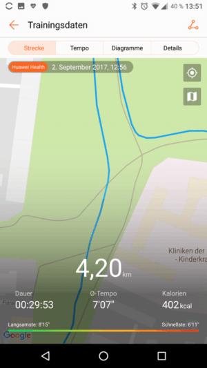 Band 2 Pro GPS Genauigkeit